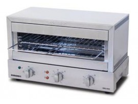 Toaster Grill Max 8 slice Glass Element top and bottom heat Roband GMX810G