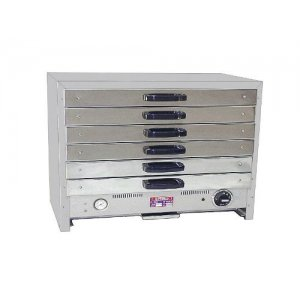 Hammertone Finish Pie Warmers with 6 removable drawers Roband 80DT