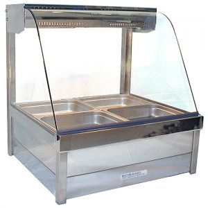 Hot Food Bar Roband C2265 Curved Glass 2 x 2 incl. 65 mm Pans