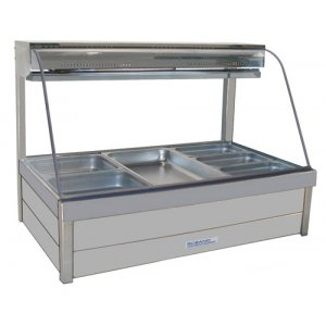 Hot Food Bar Roband C2365 Curved Glass 2 x 3 incl. 65 mm Pans