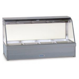 Hot Food Bar Roband C2465 Curved Glass 2 x 4 incl. 65 mm Pans