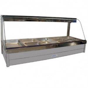Hot Food Bar Roband C2565 Curved Glass 2 x 5 incl. 65 mm Pans