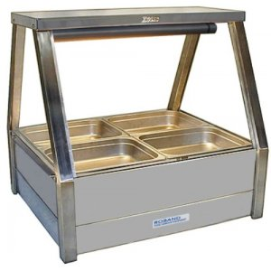 Hot Food Bar Straight Glass 2 x 2 incl. 65 mm Pans & Roller Doors Roband