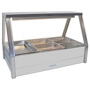 Hot Food Bar Straight Glass 2 x 3 incl. 65 mm Pans & Roller Doors Roband