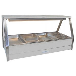 Hot Food Bar Straight Glass 2 x 4 incl. 65 mm Pans & Roller Doors Roband