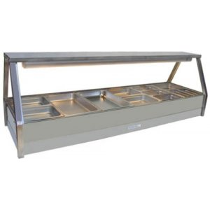 Hot Food Bar Straight Glass 2 x 6 incl. 65 mm Pans & Roller Doors Roband