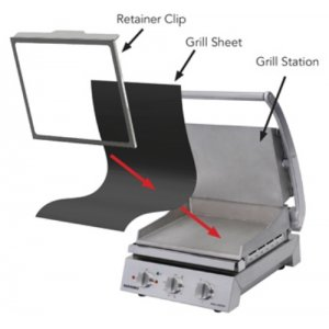 Retainer Clip for 8 slice Grill Stations Roband RC8