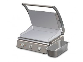 Side draining grease channel for 6 slice Grill Stations Roband