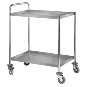 Stainless Steel Two Tier Trolley Simply Stainless SS14