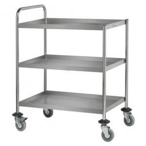 Stainless Steel Three Tier Trolley Simply Stainless SS15