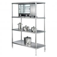 900mm Adjustable Stainless Steel 4 Tier Standard Shelving Simply Stainless