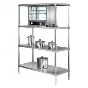 1200mm Adjustable Stainless Steel 4 Tier Standard Shelving Simply Stainless