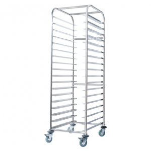 Stainless Steel Bakery Trolley for larger trays SS16.BTI Simply Stainless