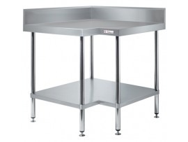 Stainless Steel Corner Bench with Splashback 600 series