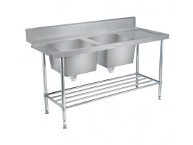 SS09.1650 DB.L Stainless Steel Double Dishwash Inlet Sink 600 Series Simply Stainless