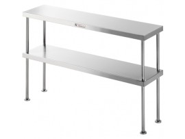 Double Bench Over Shelf Stainless Steel SS13.1500 Simply Stainless