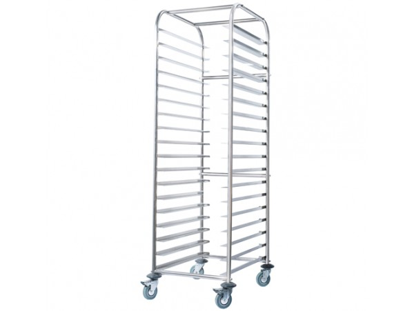 Mobile Gastronorm Rack Trolley SS16.2/1 Simply Stainless