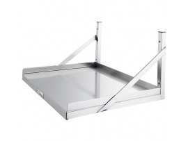Stainless Steel Microwave Shelf 450mm Wide Simply Stainless
