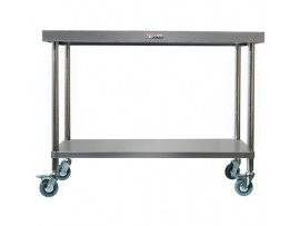 SS03.1200 Stainless Steel Mobile Work Bench 600 Series Simply Stainless