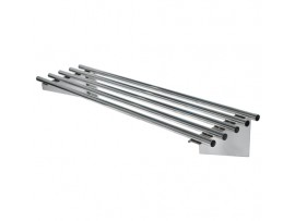 SS11.2100 Pipe Wall Shelf Stainless Steel Simply Stainless