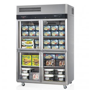 Skipio TurboAir Double Glass Split Door Freezer 1210L