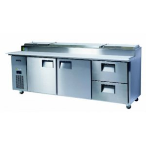 2 Door and 2 Drawers BC240-PS Centaur Pizza Counter Chiller Skope