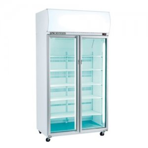 Two Glass Door Upright Chiller White 1130mm Wide SK-2 Series Skope