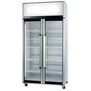Two Glass Door Upright Chiller Stainless Steel 1130mm Wide SK-2 Series Skope