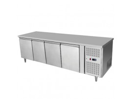 BSH2230 4 Solid Doors Stainless Steel Bench Fridge Snowman