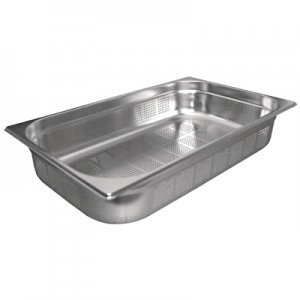 Gastronorm Pan Stainless Steel 1/1 Size 100mm Perforated