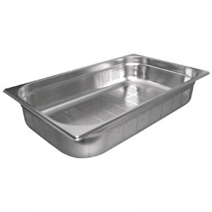 Gastronorm Pan Stainless Steel 1/1 150mm size Perforated