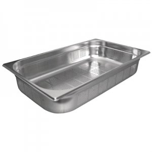 Gastronorm Pan Stainless Steel 1/1 Size 65mm Perforated