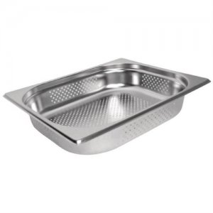 Gastronorm Pan Stainless Steel 1/2 Size 100mm Perforated
