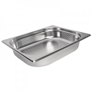 Gastronorm Pan Stainless Steel 1/2 Size 150mm Perforated