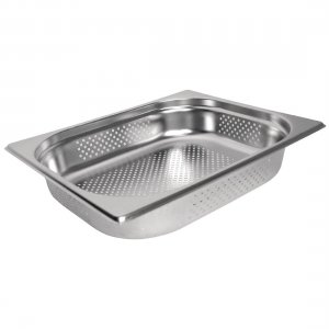 Gastronorm Pan Stainless Steel 1/2 Size 65mm Perforated