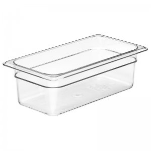 Gastronorm Polypropolene Pan Size 1/3 100mm Clear