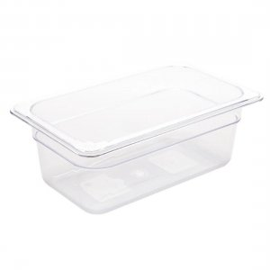 Gastronorm Polypropolene 1/4 Size 100mm Clear