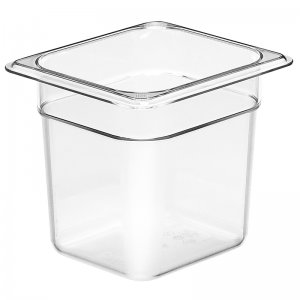 Gastronorm Polypropolene Pan 1/6 Size 150mm Clear
