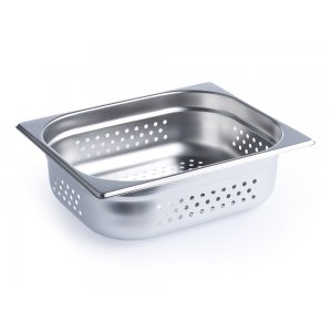 Chef Inox Anti-Jam Steam Pan 1/2 Size 100mm Perforated