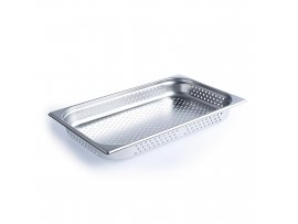 Chef Inox Anti-Jam Steam Pan 1/1 Size 65mm Perforated