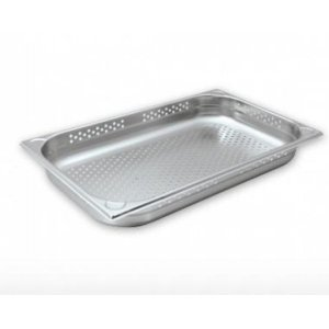 Chef Inox Anti-Jam Steam Pan 1/1 Size 100mm Perforated