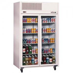 White Diamond Star Two Glass Door Fridge Williams