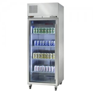 Stainless Steel Diamond Star One Glass Door Fridge Williams