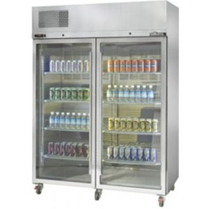Stainless Steel Diamond Star Two Glass Door Fridge Williams