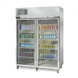 Stainless Steel Diamond Star Freezer Two Glass Door Williams