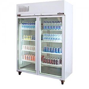 White Diamond Star Freezer Two Glass Door Freezer Williams