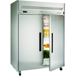 Stainless Steel Garnet Gastronorm 2/1 Solid Two Door Fridge Williams