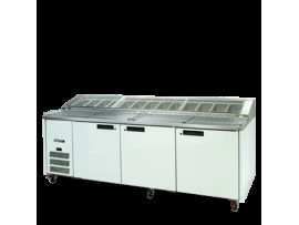 Pizza Preparation Counter Three Door Jade Williams Blown Air Well HJ3PCBA