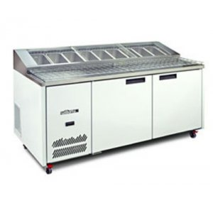 Pizza Preparation Counter Two Door Jade Williams Blown Air Well HJ2PCBA