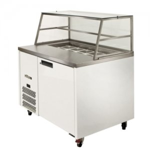 Sandwich Preparation Counter with Canopy Blown Air Well Williams HJ1SCBA